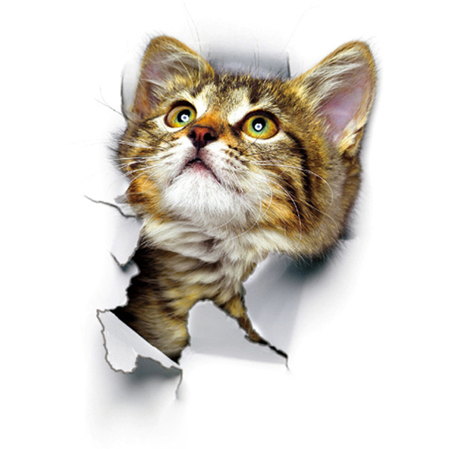 3D Cat Wall Stickers 10