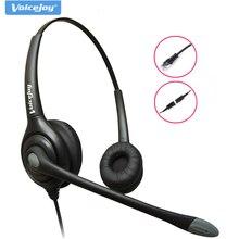 Auriculares de teléfono antiruido auriculares centro de llamadas + cable QD RJ9 enchufe para AVAYA 1608 1616 9611 9620 etc,Grandstream Yealink phone