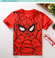 2015 Summer Style Cotton Children Short Sleeve T-Shirts Kids Clothing Tees Baby Boy Girl Cartoon Tops Kids Spiderman T shirt