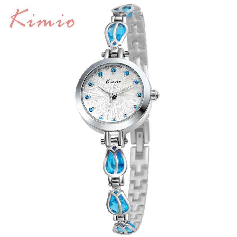 KIMIO Gold High Quality Bracelet Watch For Women Relojes Mujer 2016 Fashion Wristwatch Ladies Watches Luxury Montre Femme 535 mance fashion luxury high quality montre femme ladies a bracelet watch metal strap casual watches reloj mujer women clock