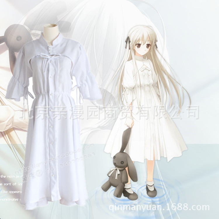 Cosplay Costume Cos Airline Spring Wild Dome Dome Sister Cosplay Costume <font><b>Lolita</b></font> <font><b>Dress</b></font> Cos White skirt Bear toy image