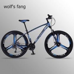 Bicicleta de Montaña wolf's fang 29 bicicletas de carretera 27 velocidades Marco de aleación de aluminio tamaño 17 pulgadas bmx bicicletas de freno de disco mecánico