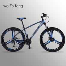 Wolfs fang rower górski rower 29 rowery szosowe 27 prędkość ramka ze stopu aluminium rozmiar 17 cali bmx mechaniczny hamulec tarczowy rowery