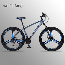 цена на wolf's fang bicycle mountain bike 29 road bikes 27 speed Aluminum alloy Frame size 17 inch bmx Mechanical Disc Brake bicycles