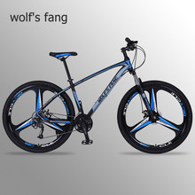 wolf's fang bicycle mountain bike 29 road bikes 27 speed Aluminum alloy Frame size 17 inch bmx Mechanical Disc Brake bicycles(China)