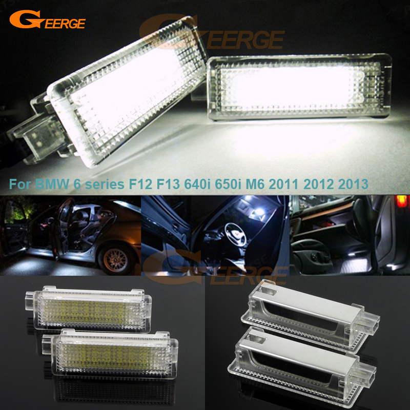 For BMW 6 series F12 F13 640i 650i M6 2011 2012 2013 Excellent LED Courtesy Footwell Under Door Light No Error