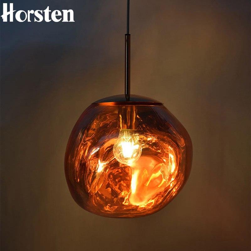 Horsten Nordic Lave Glass Pendate Lights Irregular Creative Hang Lamps Modern Ligthing For Restaurant Home Living Room Bar Hotel