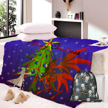 Christmas Theme Pattern Hooded Blanket Soft Plush Fashion Cape Hat Throwing Sherpa Blanket Bedding Home Decor недорого