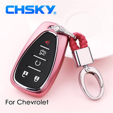 CHSKY Car Styling TPU Car Key Case Shell Auto Key Chain For Chevrolet Cruze Spark Sonic Camaro Car key Cover Case Car Accessory(China)