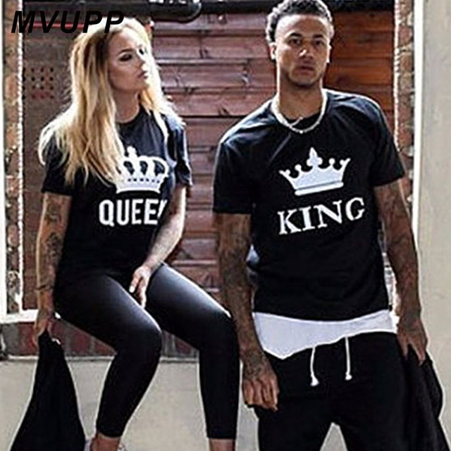 222e0d6af MVUPP 2019 NEW Summer CouplesT Shirt Casual Styles Lovers Tee Tops Shirt  Print Cotton Female Clothing