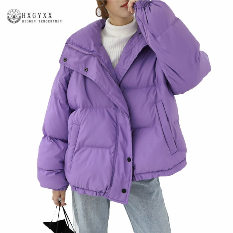 2019 Winter Jacket Women Clothing Cotton Coat Plus Size Thick Parka Female Quilted Jackets Short Warm Outwear Solid  Okd489