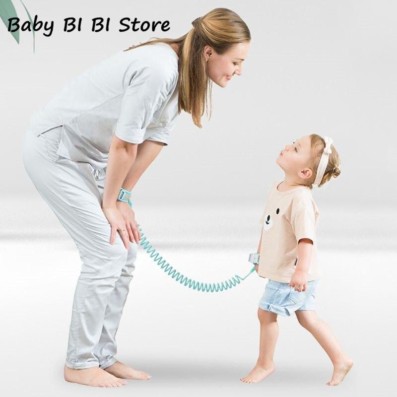 Adjustable Kids Safety Harness Child Wrist Leash Anti-lost Link Child Belt Walking Assistant Baby Walker Wristband 1.5M 2M 2.5M