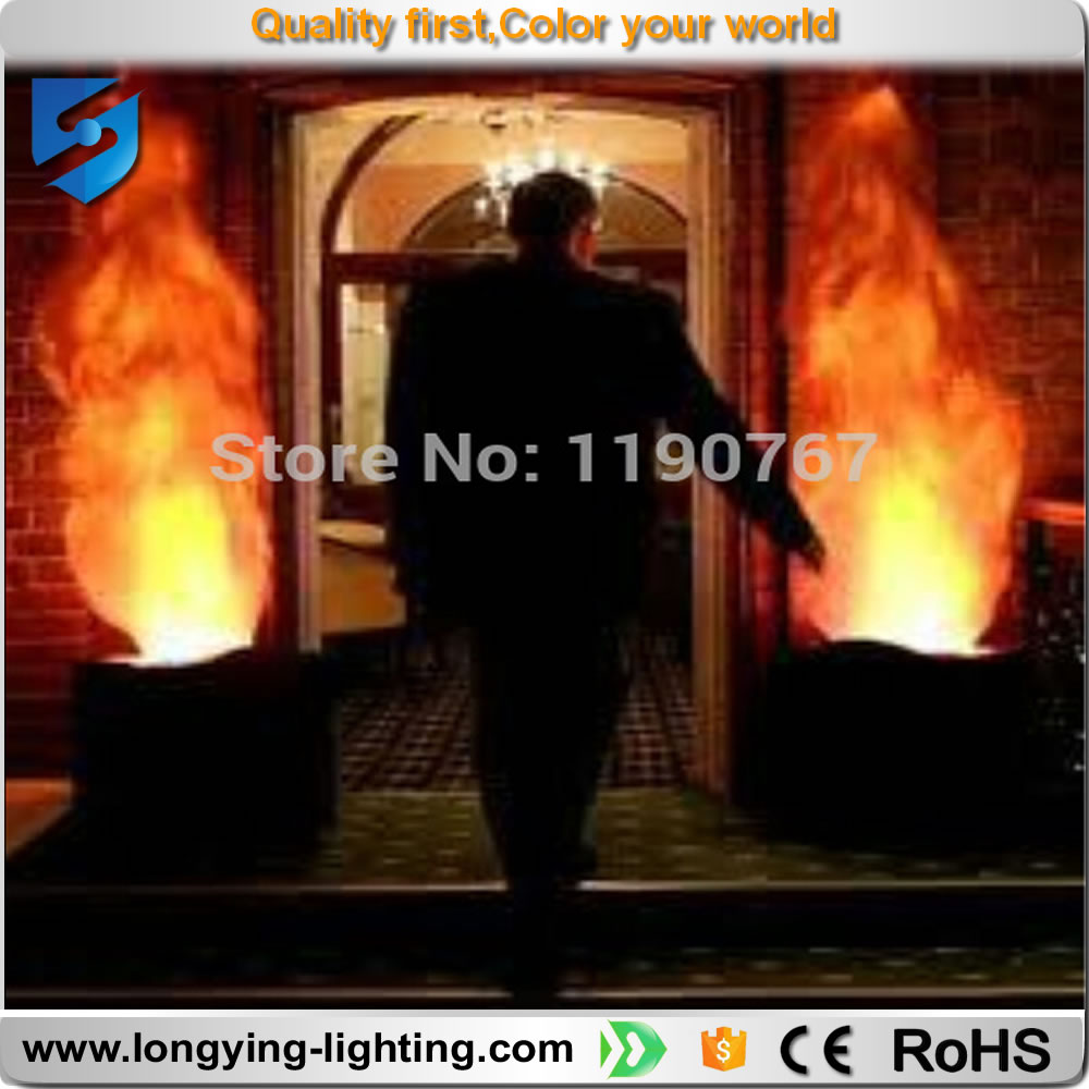 Led 2pcs Lot Led Flame Light With 1 5meters Silk Fire