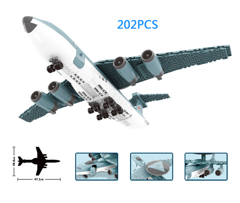 Hot 1:100 scale airplane Xian KJ-2000 Mainring modern military building block model air force figures bricks toys for kids gifts image