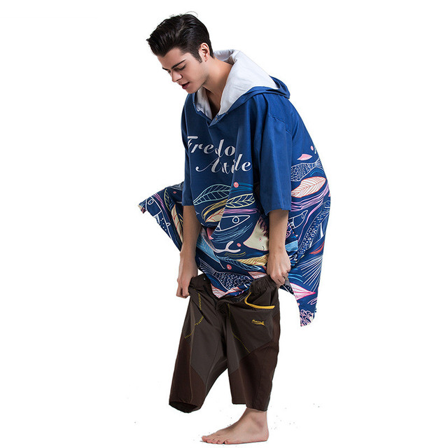 Little Fishes Hooded Beach Poncho 5