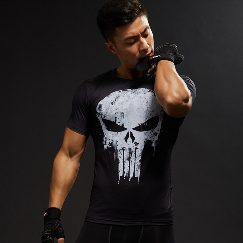 0c78f341c913 Μπλούζες   μπλουζάκια Punisher Spiderman 3D T Shirt Men T-Shirt Male  Crossfit Tops Print Anime Superhero Superman shirt Men Fitness Compression  Shirts