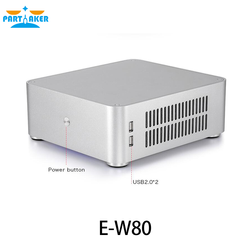 Aluminum Computer Case E-W80 for PC with USB and 12V/5A power supply realan tower case computer for body computer w60 with usb and 12v5a power supply