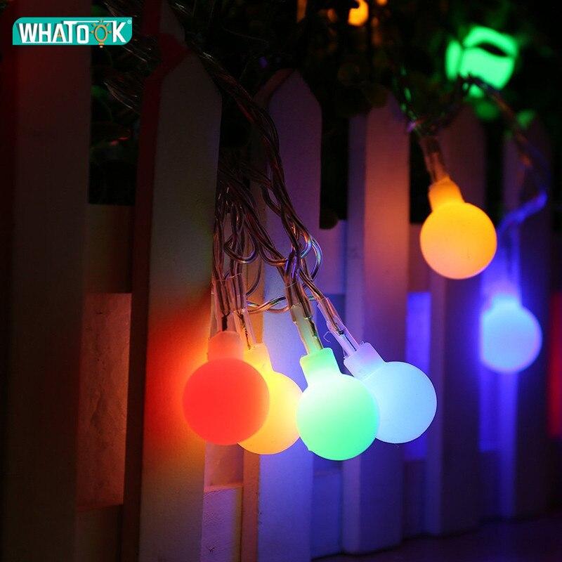 220 В Фея 100 м 800 светодиодный шар гирлянда огни Рождество Новый год Праздничная Вечеринка свадебные декоративные лампочки гирлянды фонарик