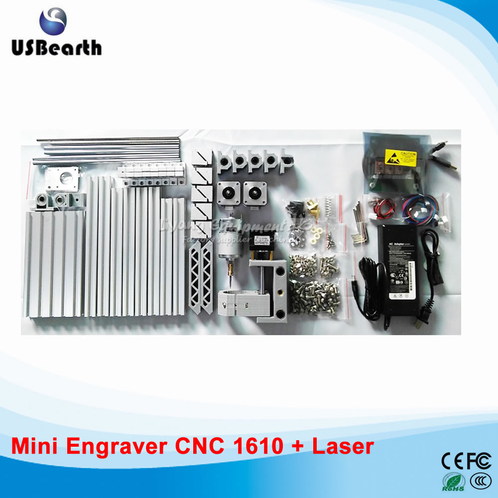 CNC router 1610 PCB milling machine, also can use as a 500w laser cutter, Russia free tax disassembled pack mini cnc 1610 2500mw laser cnc machine pcb wood carving machine diy mini cnc router