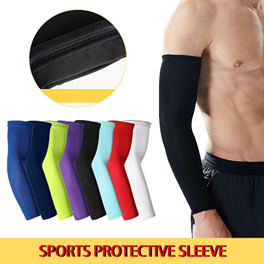 2019 Fashion Accessory 8-Color Bicycle Cycling UV Sun Protection Arm Warmers Biking Cuff Sleeve Cover For Sports Safety