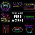 FUOCO FUNZIONA segni Al Neon della luce di Vetro Al Neon Tubo di luce per Bar casa bussiness partito LED insegne Al Neon di Luce