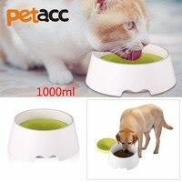 PETACC 1000 미리리터 2 1 높은 품질의 혁신적인 애완 동물 여행 그릇 안티 유출 유출 Dripless 그릇 물 식품 그릇 개/고양