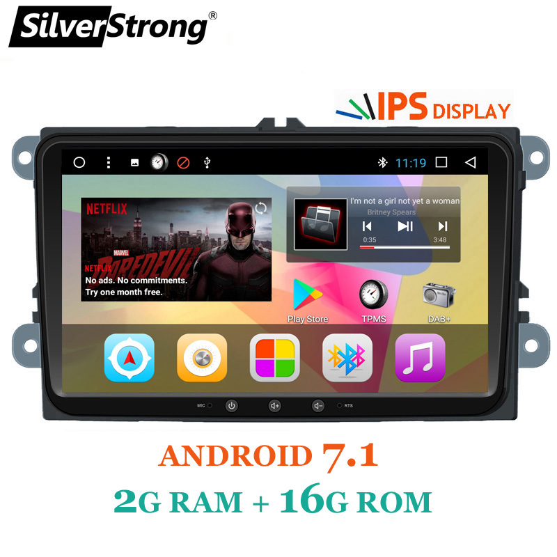 SilverStrong 9 pouces IPS Panneau Jetta Android 7.1 DSP Radio Voiture DVD Android Pour VW Golf6 MK5 Passat B6 B7 polo GPS 901T3