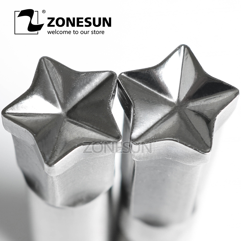ZONESUN Pentagram Single Tablet Punch Machine Mold Press Custom Stamping Die Tablet Die Logo TDP0 1.5 3 5 Mould Making Machine metal manual grommet press machine 6 8 10mm die mould 3 000 1000x3 eyelet supplies making banner flag