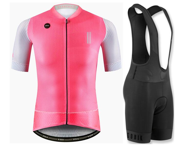 Top quality 2018 GOBIK Fireworks COOL bike clothes short sleeve cycling wear for men MTB road cycling Jersey set 4D gel pad