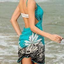 Women Beach Dress Sexy Sling Beach Wear dress sarong bikini Cover-ups