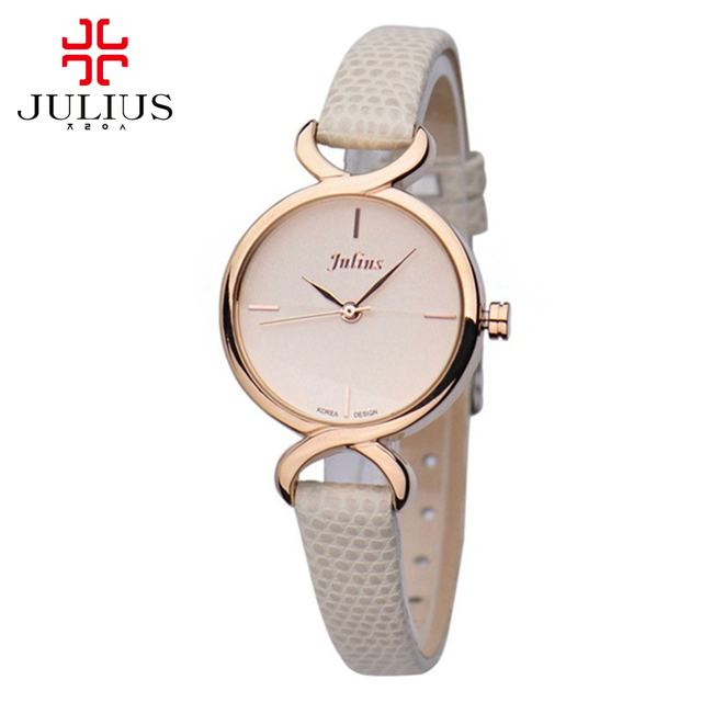 New Hot Sale Top Brand JULIUS Female genuine Leather Concise Watches Women Dress Fashion Casual Japan Movement Quartz-watch