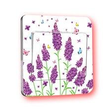 1 PCS Purple Lavender Switch Paste General Purpose Sticker Single-piece Switch Wall Sticker