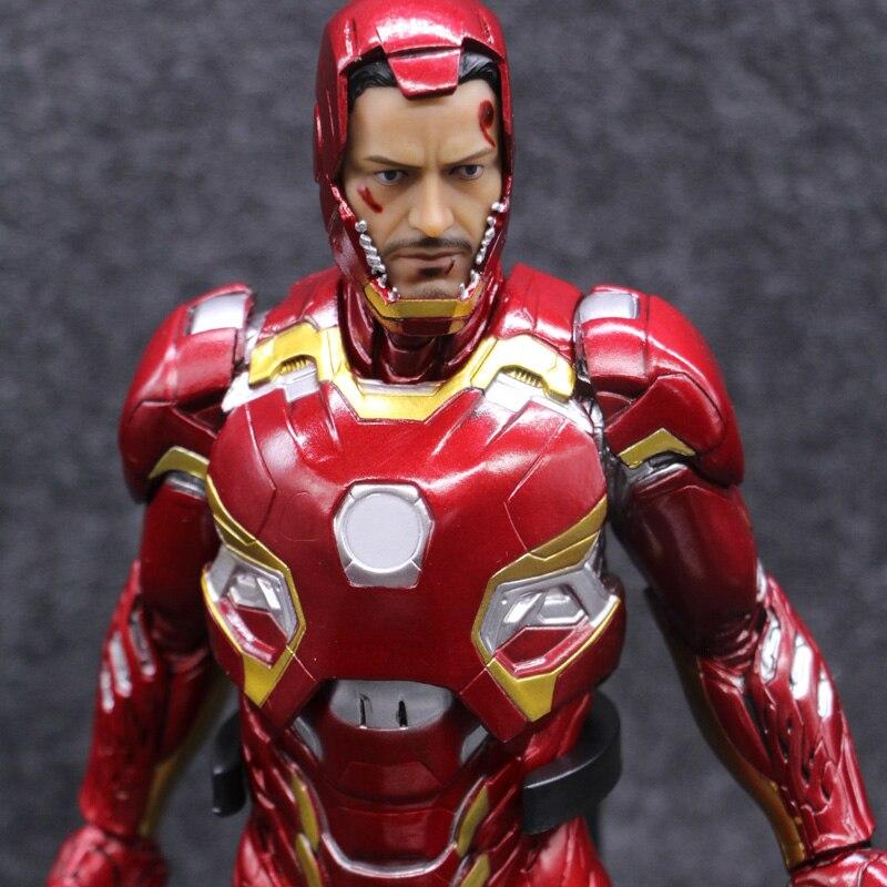 "Iron Man Mark XLV MK45 PVC Action Figure Collectible Model Toy 12/"" 30cm"