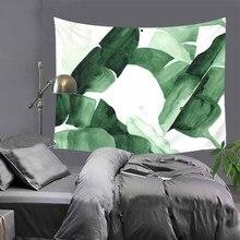Home Decor wall Tapestry Cactus 3D Printing Art Hanging Green Tapestry Banana leaves Indian Boho Wall Hippie Tapis Carpet Sheet