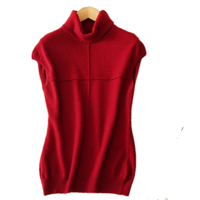 Autumn And Winter New High Quality Sweater Solid Color Wool Sweater Women S Vest Collar Sweater