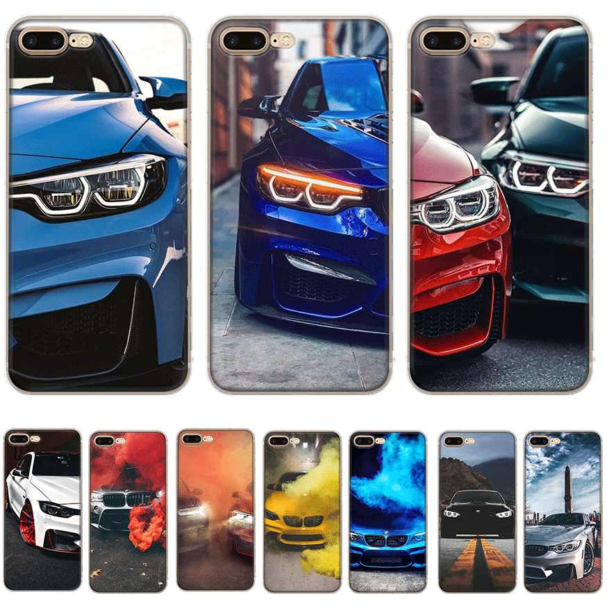 Mobil BMW Ponsel Case untuk iPhone 7 8 6 6 S Plus iPhone 11 Pro X XS Max XR 5 5S SE Cover