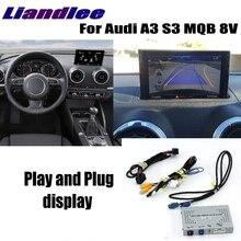Interface Da Câmera Reversa Estacionamento de Backup Traseira Liandlee Plus System Para Audi A3 S3 MQB 8 v Visor MMI Melhorar