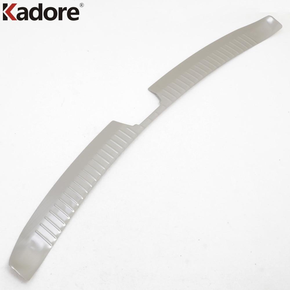 Pour Nissan Qashqai 2007-2010 2011 2012 en acier inoxydable intérieur pare-chocs arrière protège-garniture arrière porte seuil plaque protection protection - 2