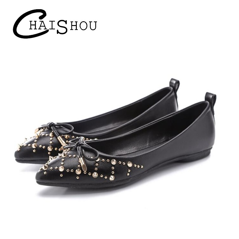 Spring summer Fashion Women Flats Shoes Slip On Woman Single Shoes Driving Footwear Rivets shallow mouth casual women shoes U031 women s shoes 2017 summer new fashion footwear women s air network flat shoes breathable comfortable casual shoes jdt103