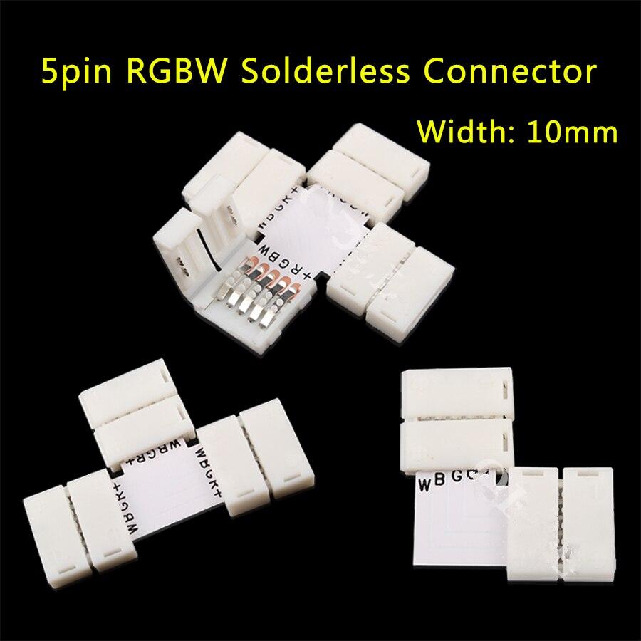 5 ШТ. L T X ФОРМА PCB <font><b>5Pin</b></font> RGB <font><b>LED</b></font> разъемы для 12 В 5050 10 мм ширина Полосы бесплатный сварка застежка лампы Быстрый Splitter
