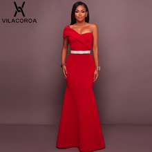 Red Sexy Tube Top One-Shoulder Backless Party Dress Women Vestidos Black  Elegant Fashion Long 1f59efbf7415