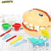 Стоматологическая игрушка для игры в тесто красочные детские глиняные формы игрушки набор инструментов для моделирования набор Pretent Play Doctor...