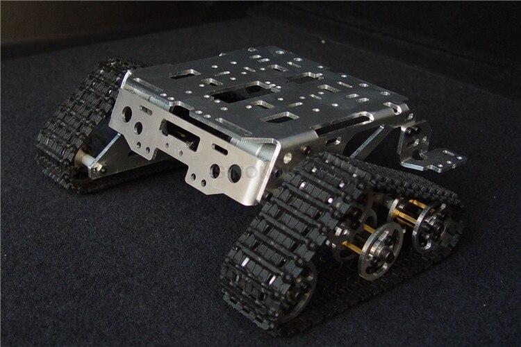 Lega di Alluminio del metallo Intelligente Robot serbatoio chassis Piattaforma kit crawler veicolo cingolato Wali SUV SN1100 V2Lega di Alluminio del metallo Intelligente Robot serbatoio chassis Piattaforma kit crawler veicolo cingolato Wali SUV SN1100 V2