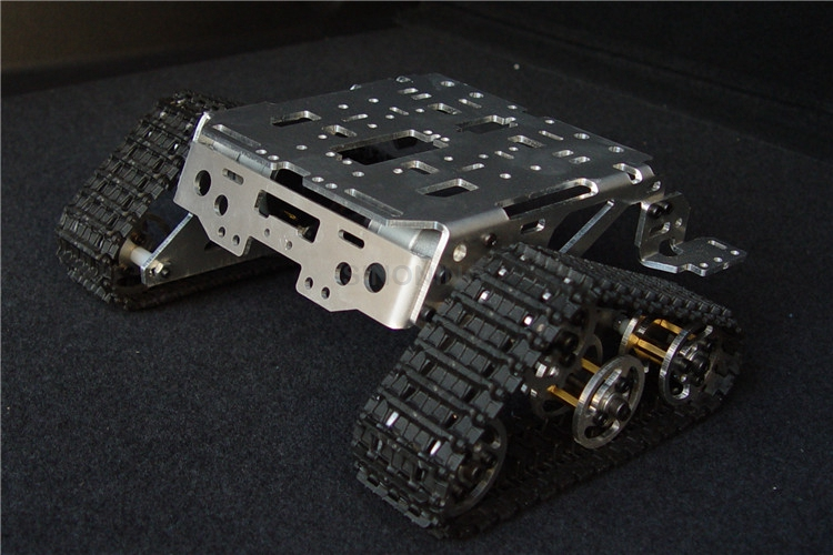 Metal aluminum alloy smart robot tank chassis platform for Chassis aluminium