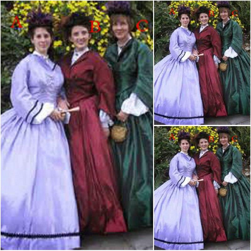 Dijual pelanggan buatan Vintage pakaian pakaian Victoria 1860-an - Kostum karnival