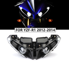 Motorcycle Accessories Front Headlights For Yamaha YZF R1 Headlight Lamp Head Light Housing For Yamaha YZF R1 2012 2013 2014 R1