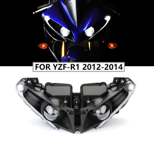 Image 1 - Motorcycle Accessories Front Headlights For Yamaha YZF R1 Headlight Lamp Head Light Housing For Yamaha YZF R1 2012 2013 2014 R1