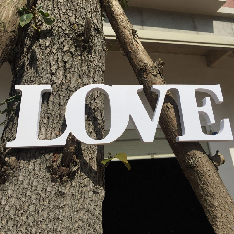 white wood love letter 925cm wedding signs wedding party photo props romantic love party