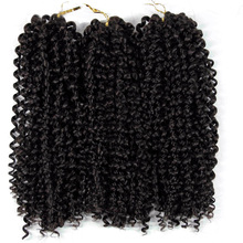 hot deal buy crochet hair curly braiding hair ombre grey bundles jerry curl synthetic extensions afro kinky twist hair crochet braid