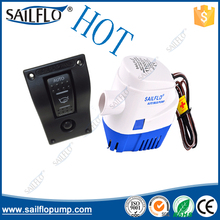 Sailflo 12V 1100GPH automatic bilge pump & 1P HY-AB1-4  12V24V on off marine CAR caring rocker switch small panel